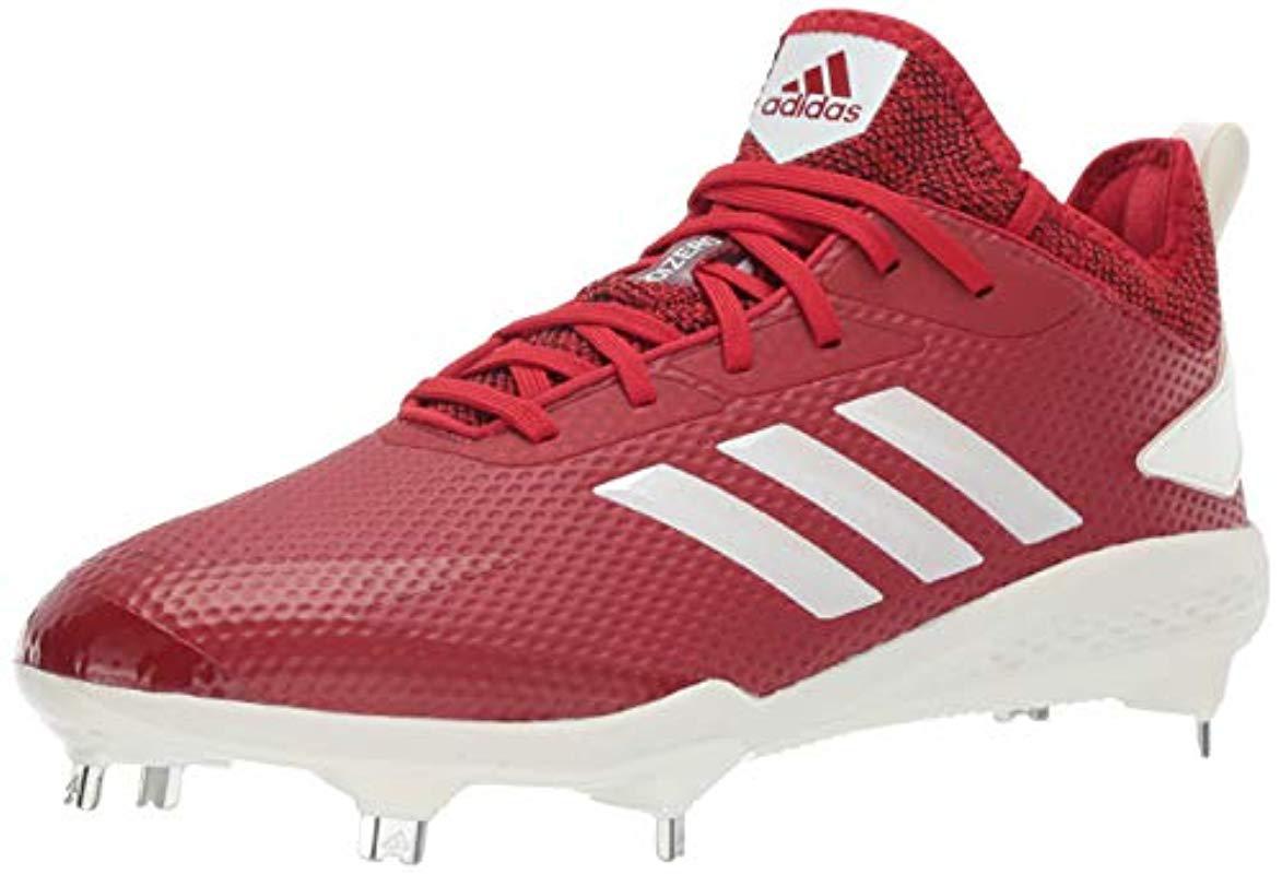 huge discount 44431 33202 Lyst - adidas Adizero Afterburner V Baseball Shoe in Red for Men