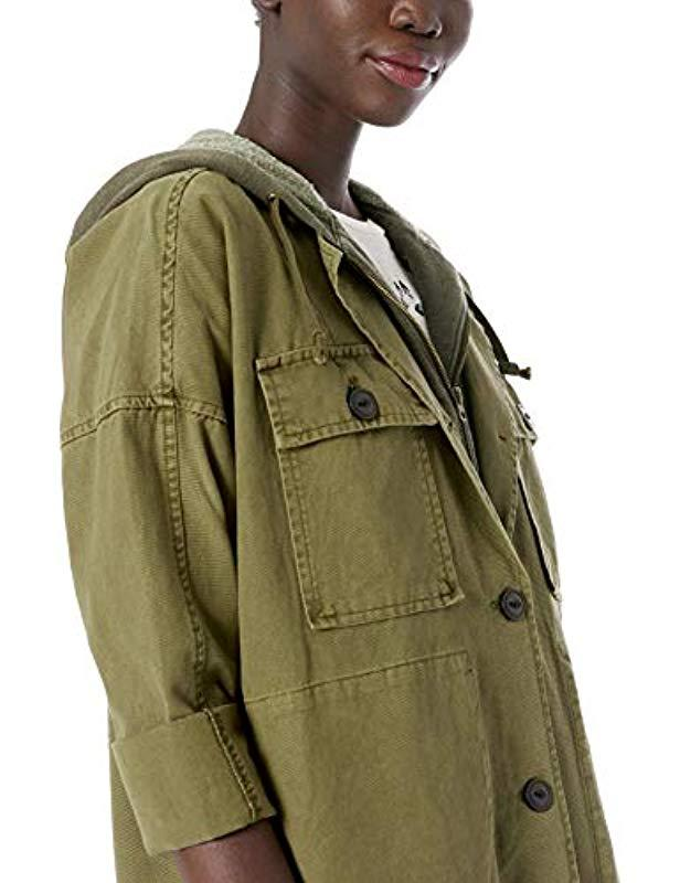f8b1e4e46e0 Lyst - Lucky Brand Hooded Utility Jacket in Green - Save 20%