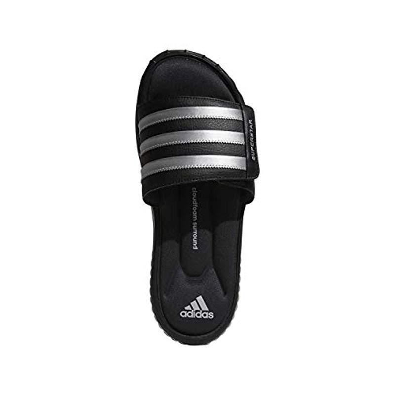 0a7aca4caf87 Lyst - adidas Performance Superstar 3g Slide Sandal in Black for Men