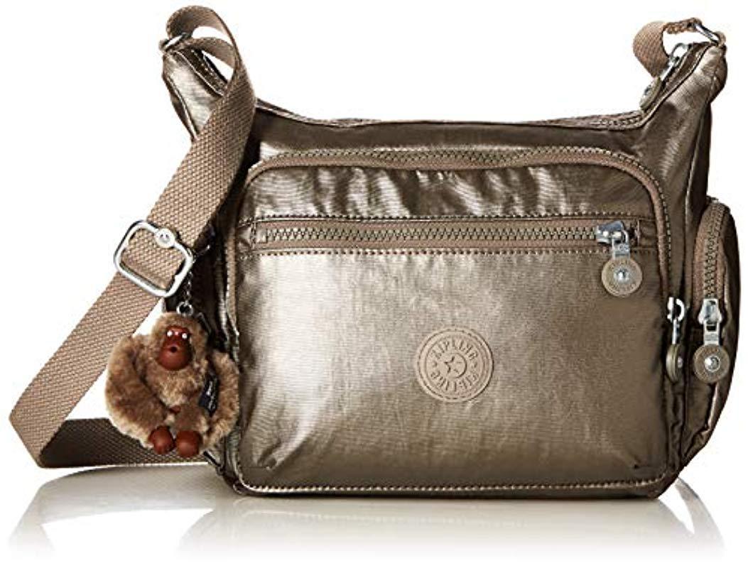 Lyst - Kipling Gabby S Crossbody Handbag, Metallic Pewter in ... de5ab0f2a1