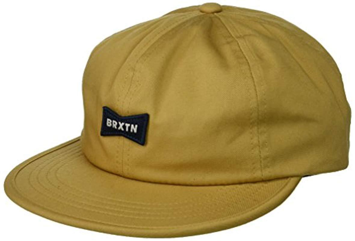 buy online a9e25 b99d5 Lyst - Brixton Missouri Low Profile Adjustable Hat in Green for Men ...