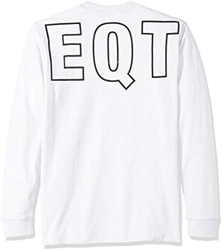 b9c726a21a529 Lyst - adidas Originals Eqt Long Sleeve Graphic Tee in White for Men ...