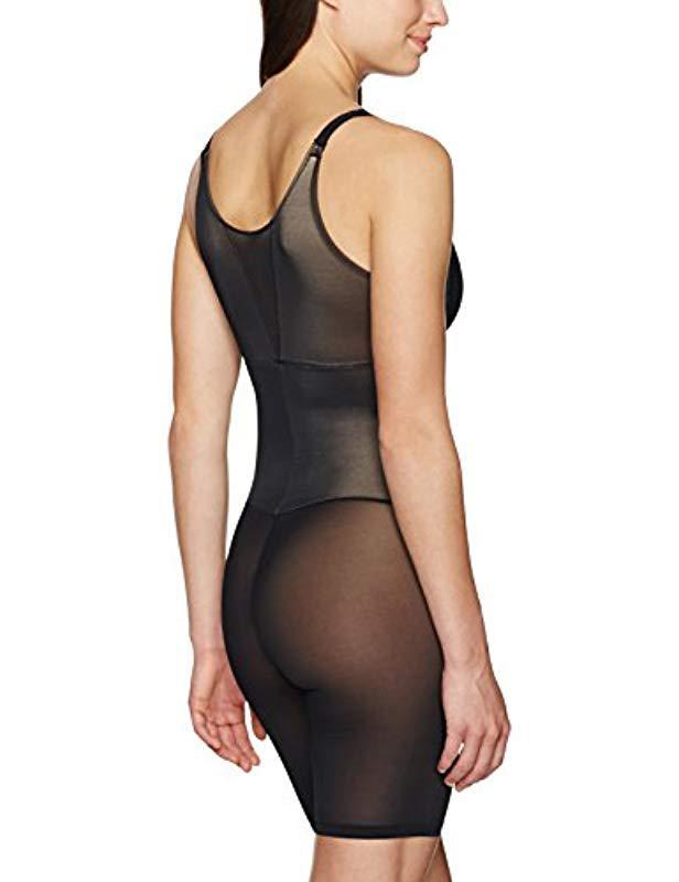 b2983c655f Lyst - Arabella Firm Control Open Bust Bodysuit Shapewear in Black