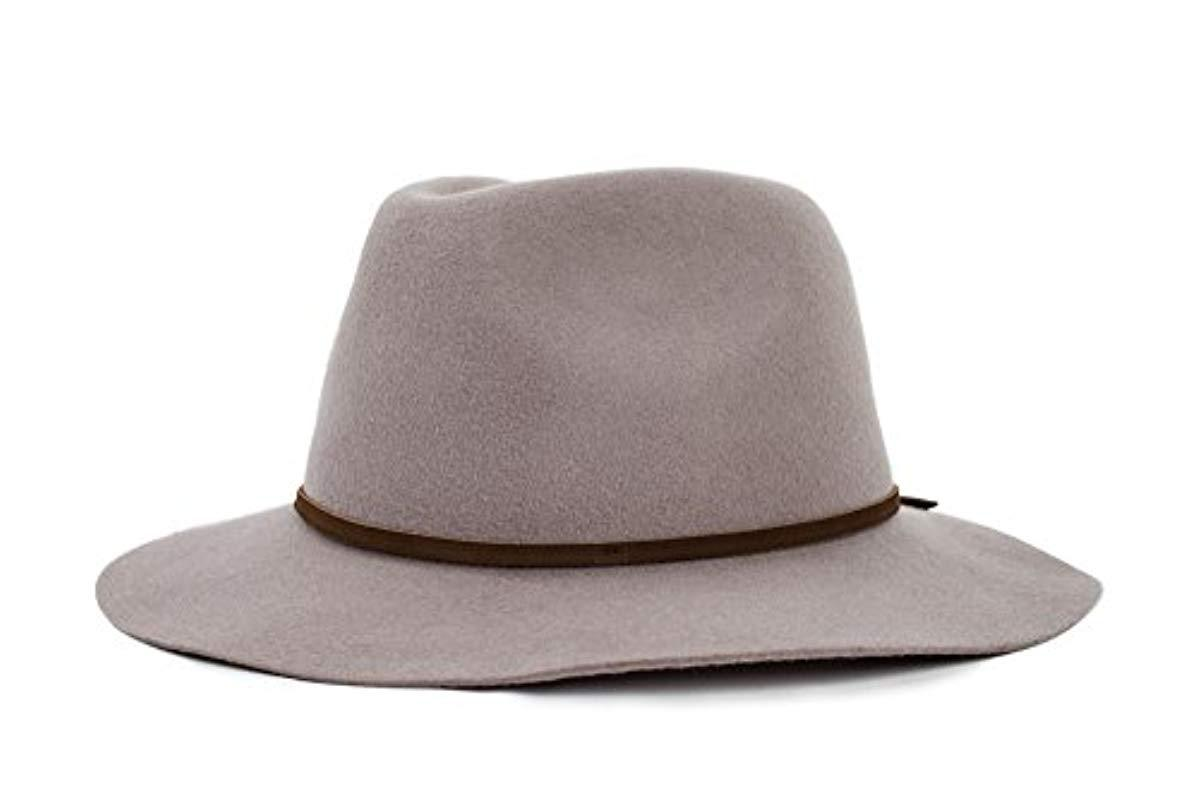 bae3be17 Lyst - Brixton Wesley Fedora Hat in Brown for Men
