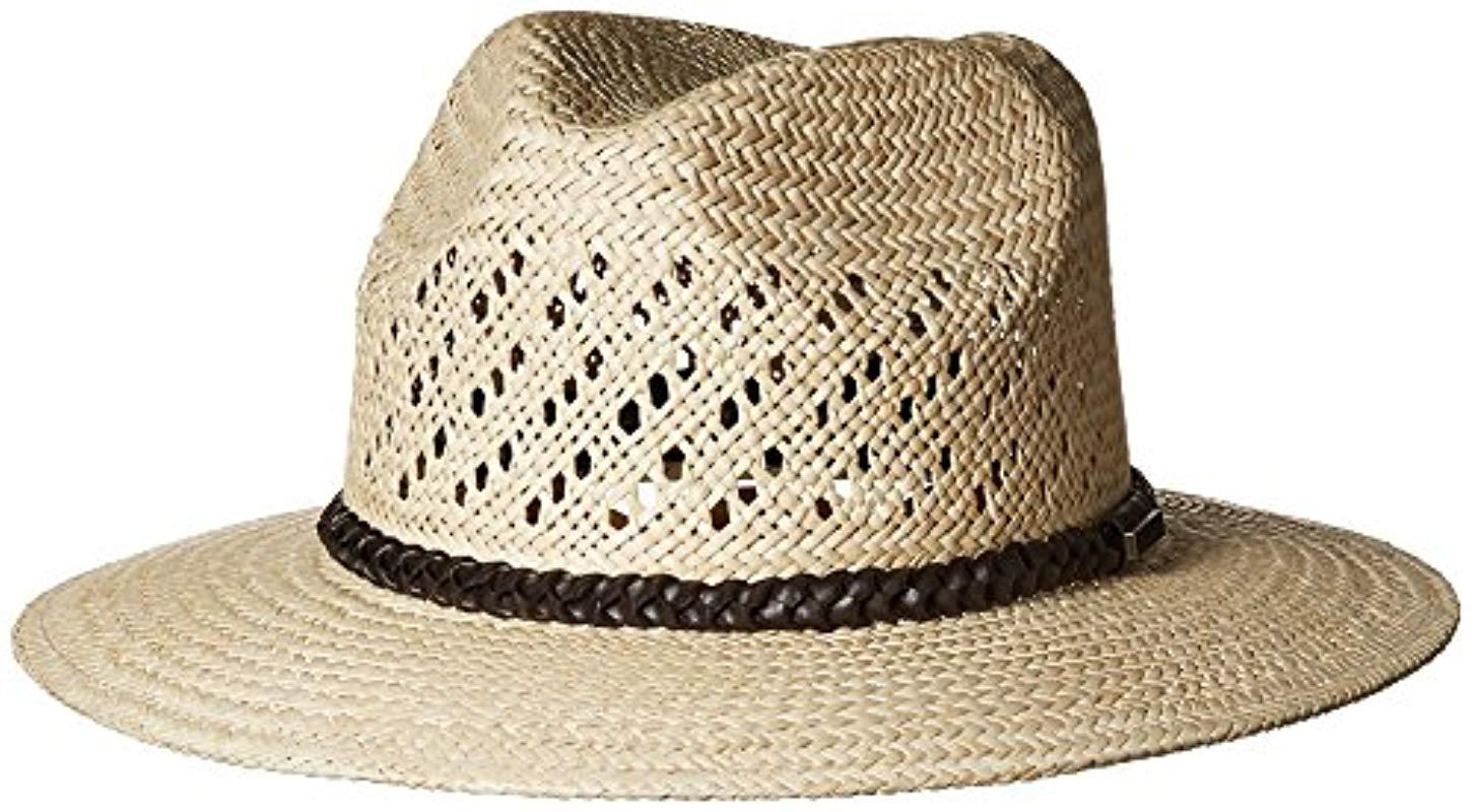 Lyst - Pendleton Panama Straw Hat in Natural for Men - Save 28% 2d9e530547f