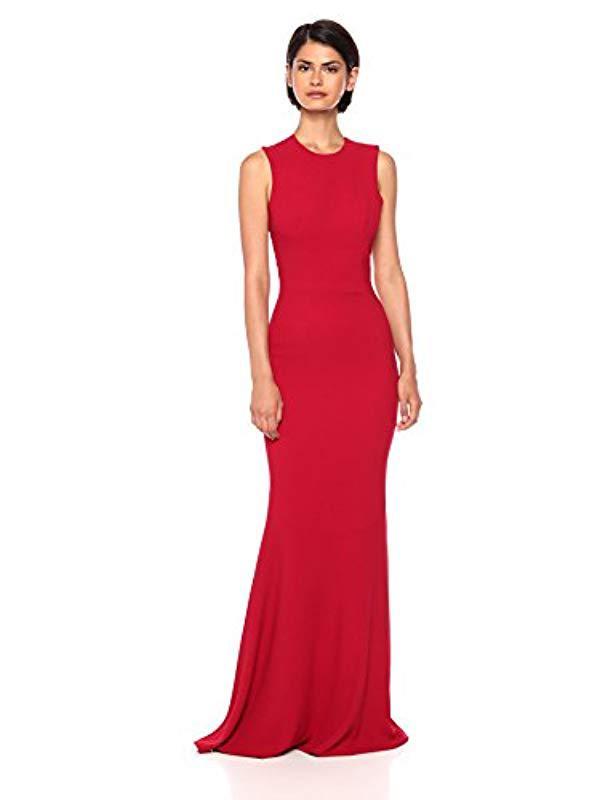 9798ddf5 Lyst - Dress the Population Eve Stretch Crepe Illusion Back Mermaid ...