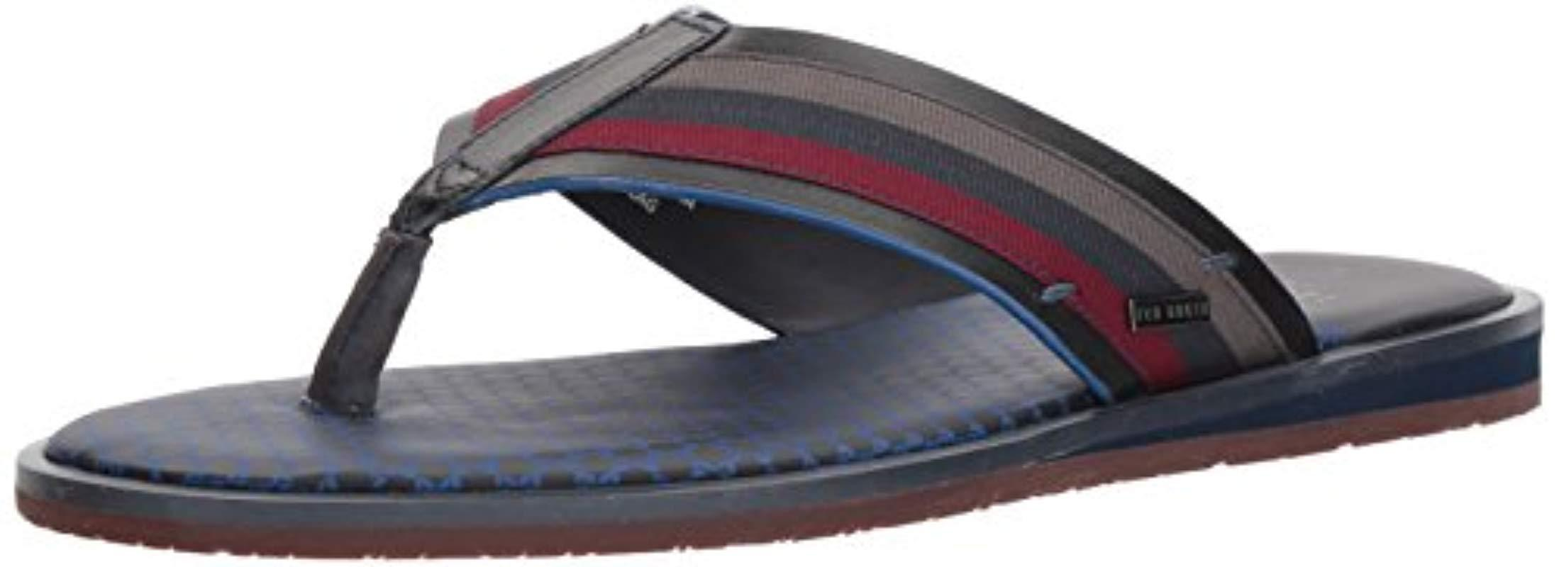 480441ab69bb Ted Baker - Blue Knowlun Flip-flop for Men - Lyst. View fullscreen