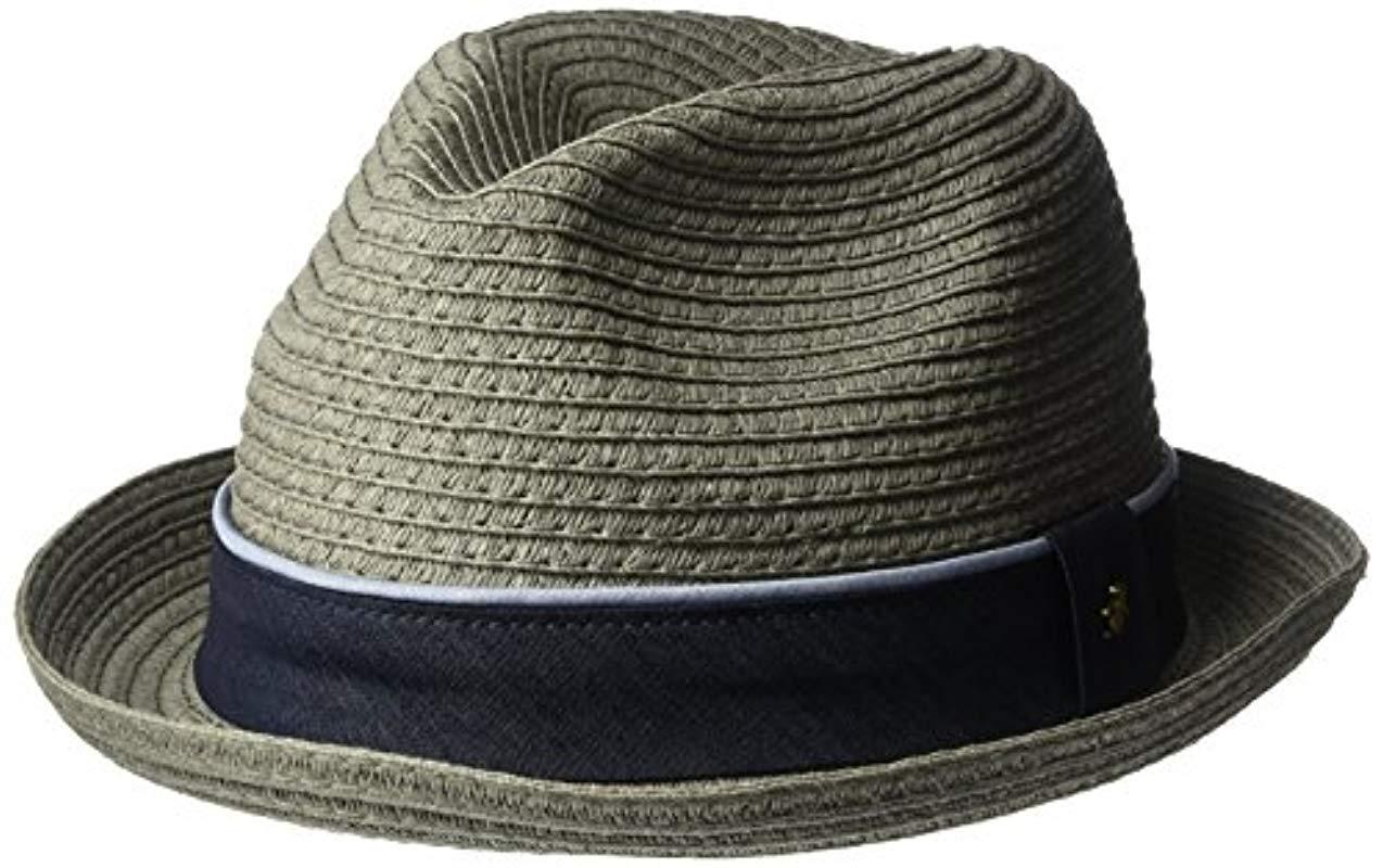 6ed1ba3bdc1 Lyst - Original Penguin Straw Porkpie Hat in Gray for Men