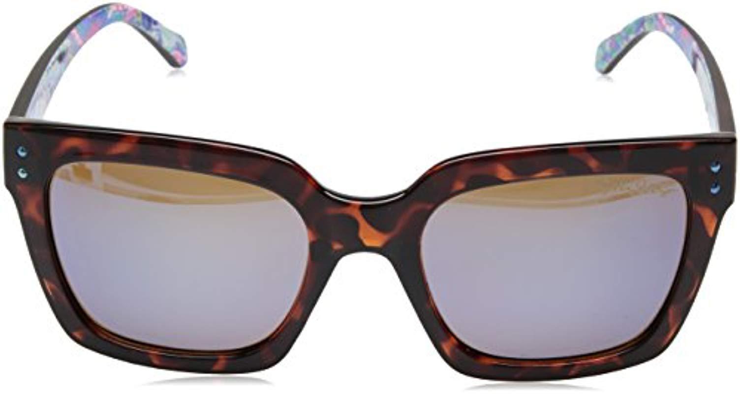 ed84db7f25 Lilly Pulitzer - Brown Celine Polarized Square Sunglasses