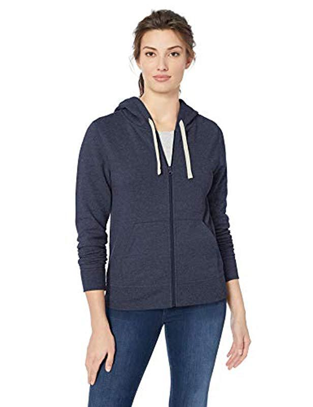 908760e5cb16 Lyst - Amazon Essentials French Terry Fleece Full-zip Hoodie in Blue