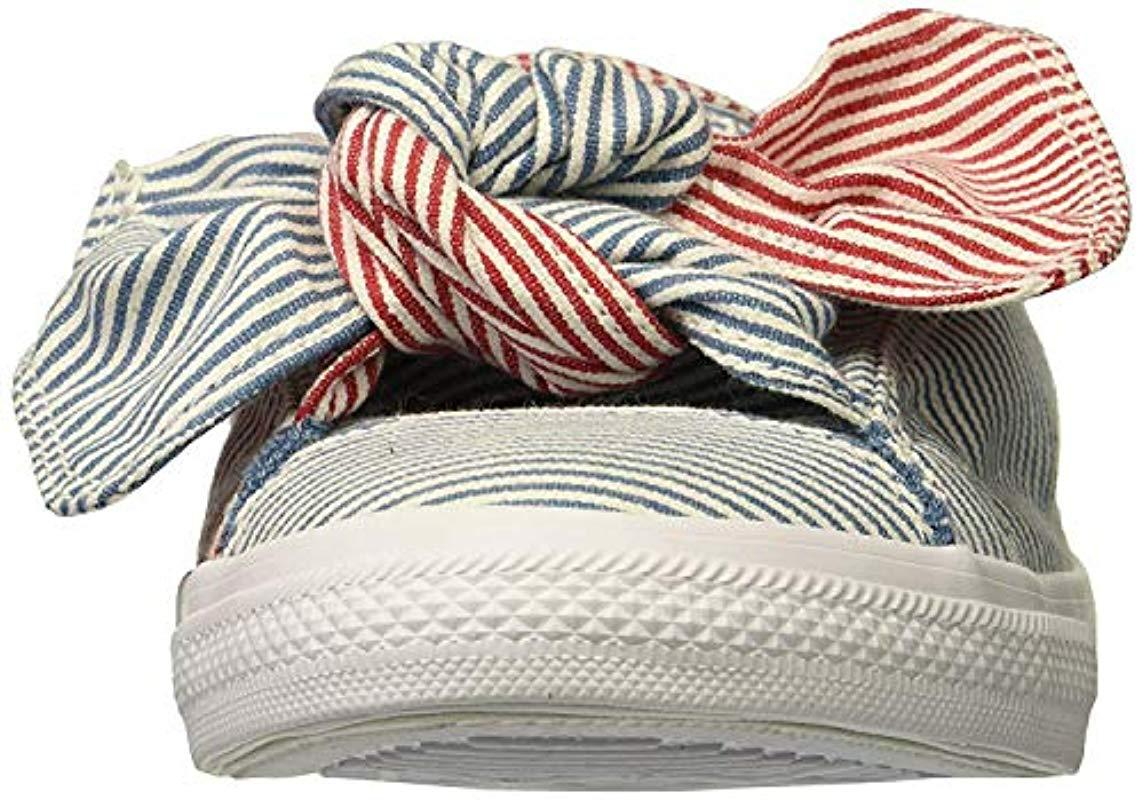 f5dc838ca9 Lyst - Converse Knot Striped Chambray Slip On Sneaker