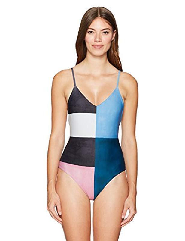 4b6e78148172a Lyst - Mara Hoffman Celeste One Piece Swimsuit in Blue - Save 52%
