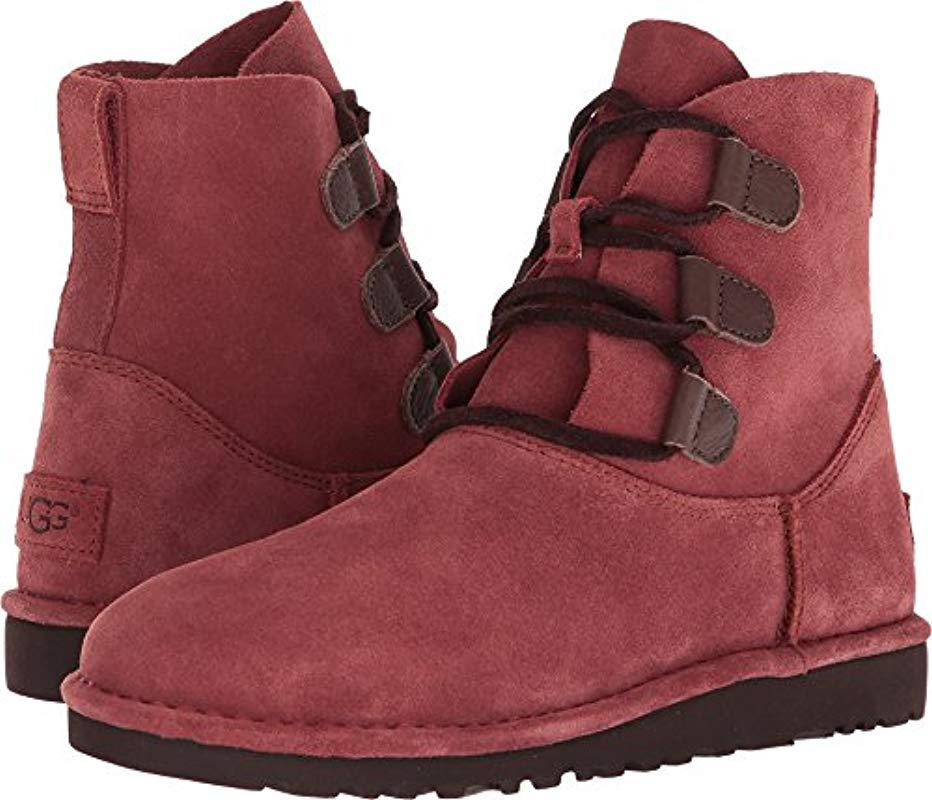 13e9b87e71c Ugg - Red Elvi Harness Boot - Lyst
