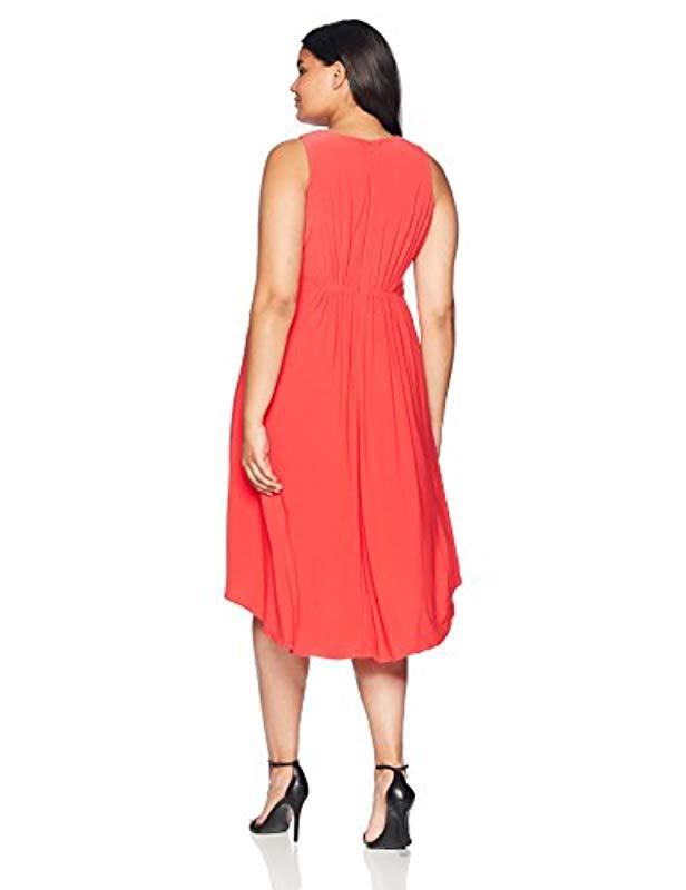 03f84ff6c77 Lyst - Adrianna Papell Size Plus Matte Jersey Fit And Flare Dress in Red -  Save 47.05882352941177%