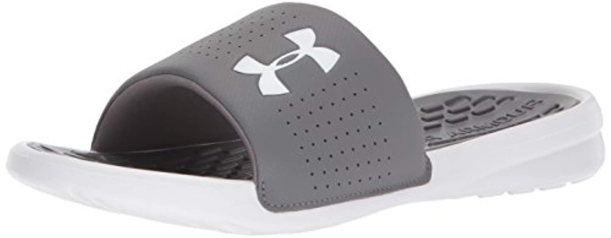 bddc5ddb7ce Lyst - Under Armour Playmaker Fix Sl Slide Sandal in Gray for Men ...
