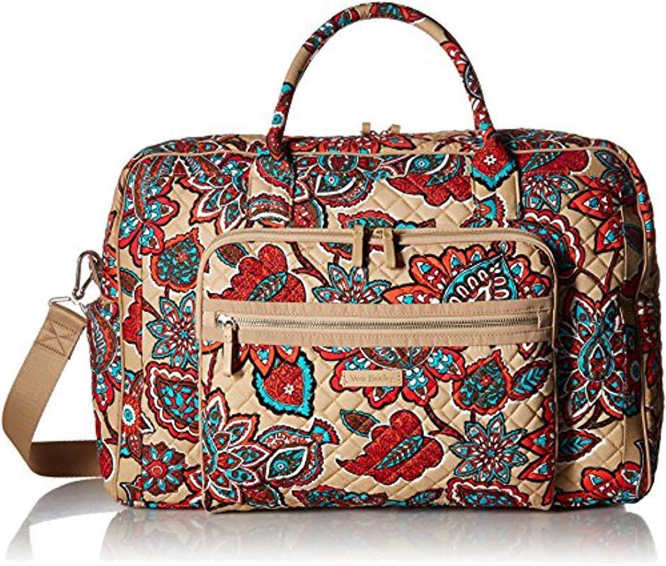 Vera Bradley. Women s Iconic Weekender Travel Bag ... 590bec33ee3d5