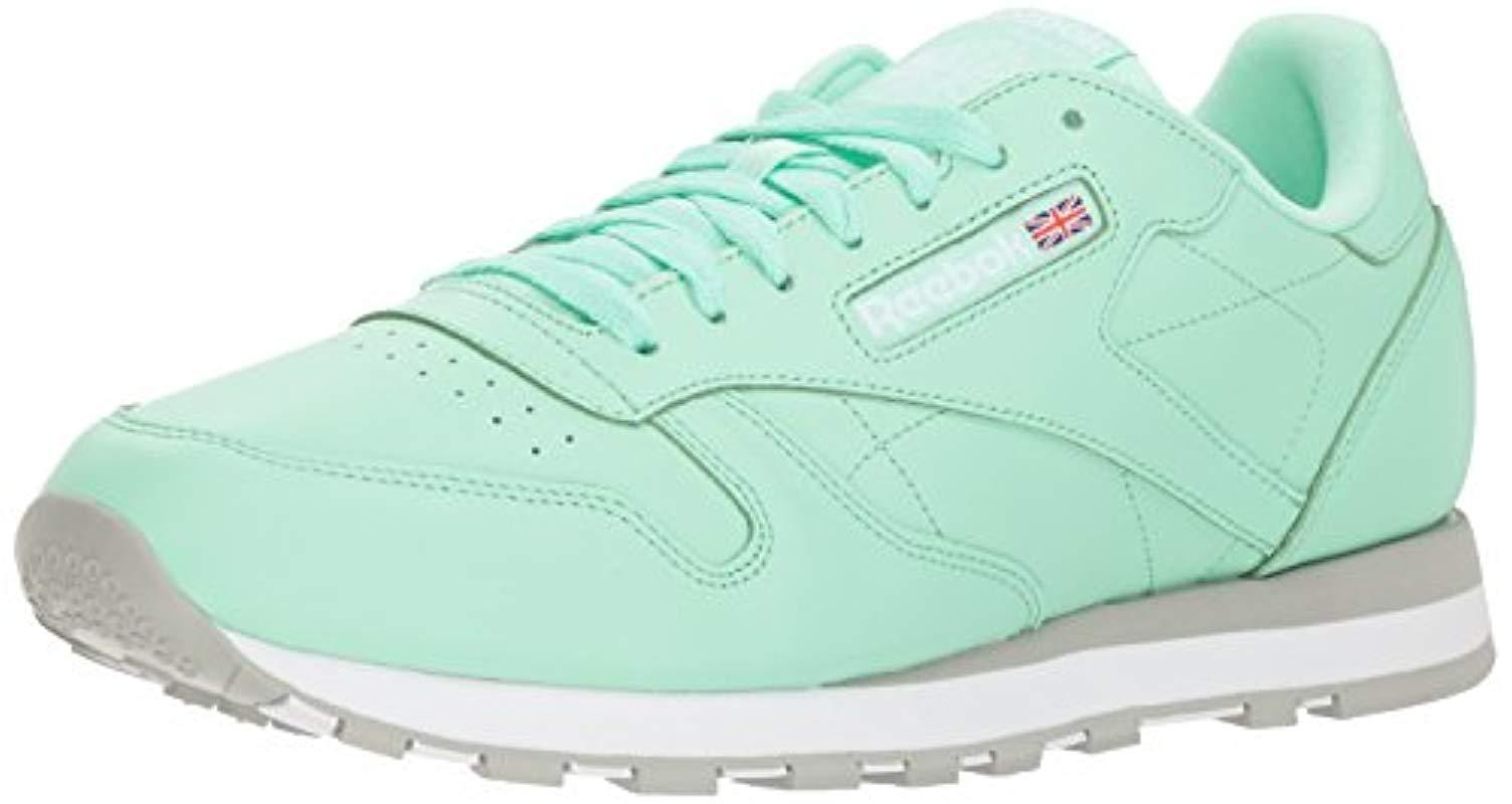 f84e236b4b57a Reebok. Men s Classic Leather Walking Shoe Digi-digital Green white 5 M Us