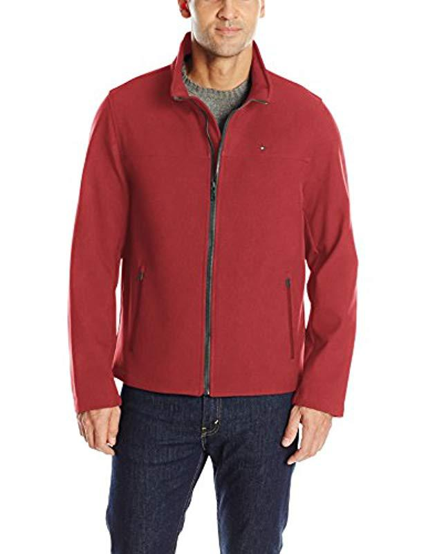 8fbbc0ced59 Lyst - Tommy Hilfiger Classic Soft Shell Jacket in Red for Men ...