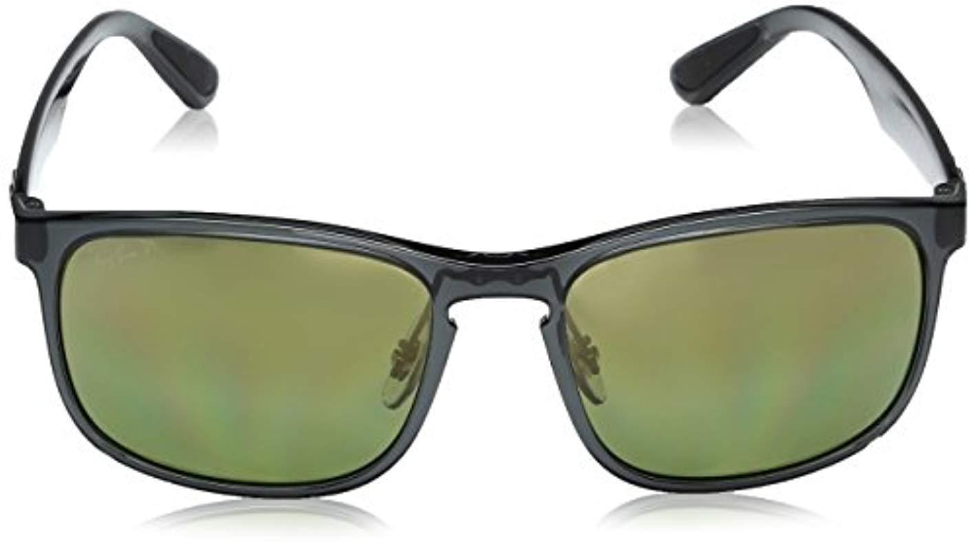 058c0d799fd0ad Ray-Ban - Gray Rb4264 Chromance Lens Square Sunglasses for Men - Lyst. View  fullscreen