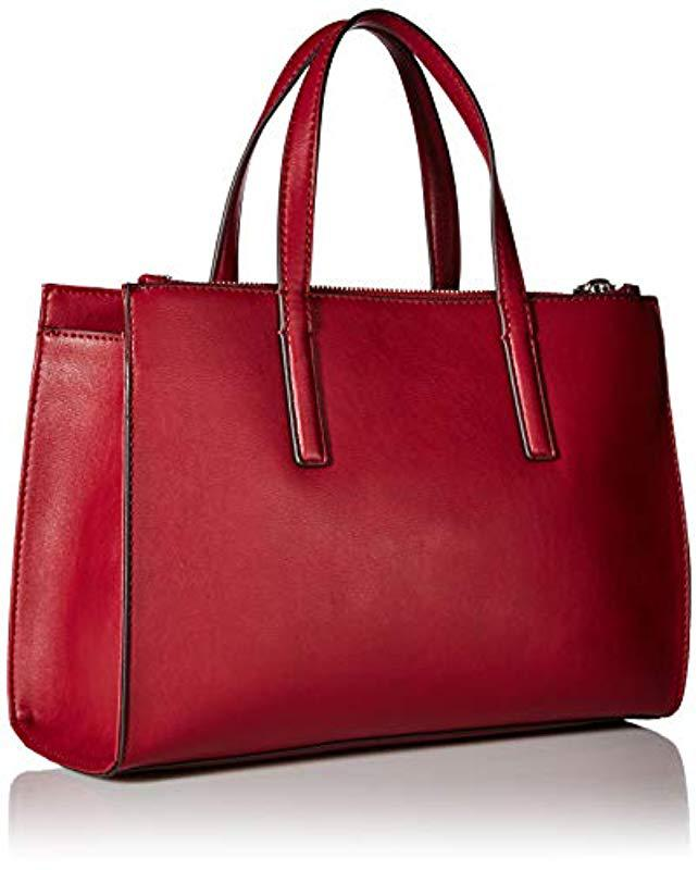 Lyst - Guess Sienna 2 In 1 Society Satchel in Red d216e6fe9d