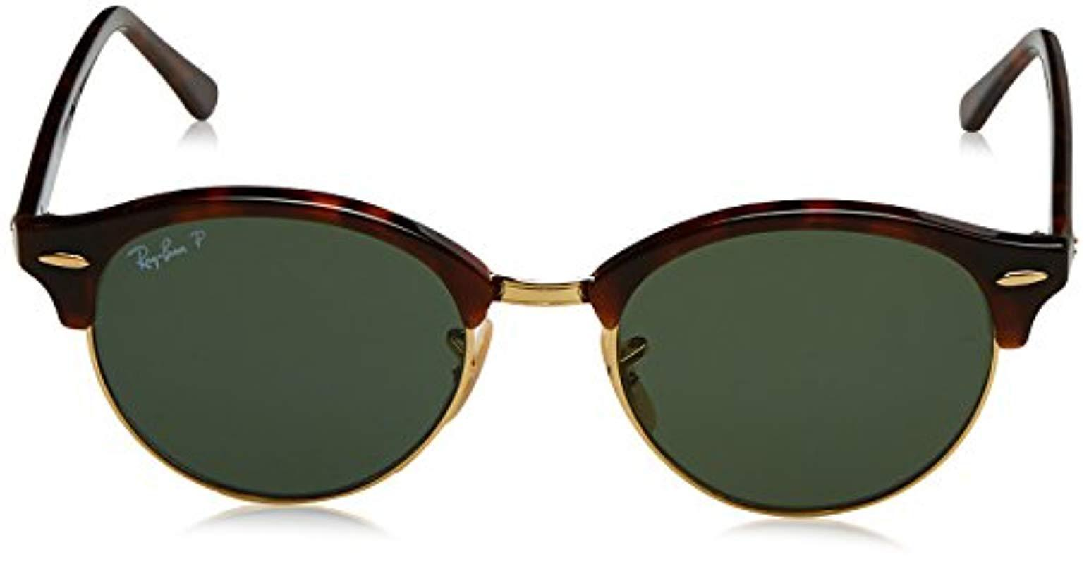 d33f5c9a181 Lyst - Ray-Ban Clubround Polarized Round Sunglasses