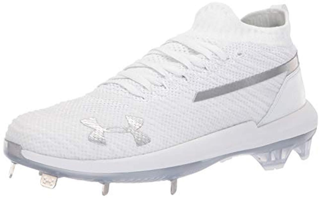 cb68a4413be Under Armour Harper 3 Low St Metal Baseball Shoe in White for Men - Lyst