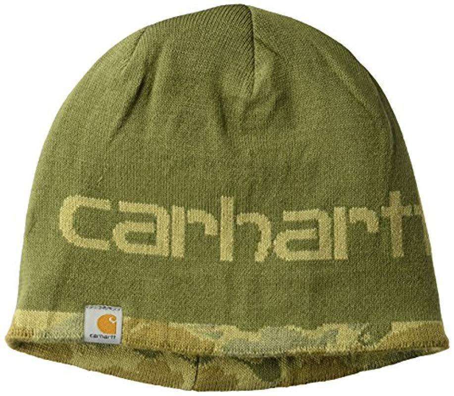 a8da582226b Carhartt - Green Montgomery Reversible Hat for Men - Lyst. View fullscreen