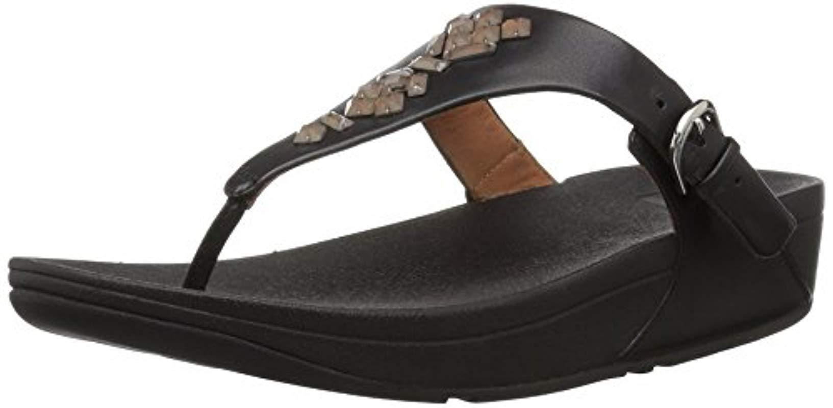 98f3f5a05d464d Fitflop - Black The Skinny Toe-thong Sandals-crystal - Lyst. View fullscreen