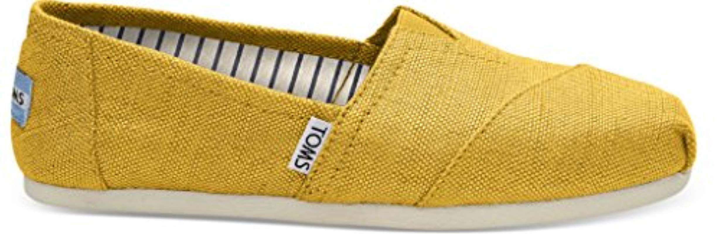 cb7752d37d7b9 Lyst - TOMS Classic Canvas Slip-on Shoe in Yellow