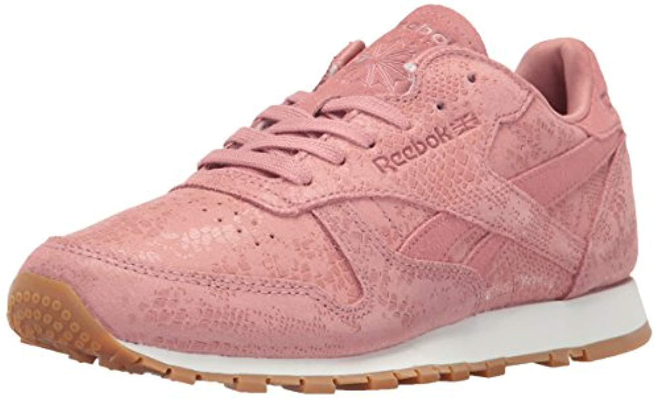 f7215ffc5ead6 Lyst - Reebok Women s Classic Leather Exotic Casual Sneakers From ...