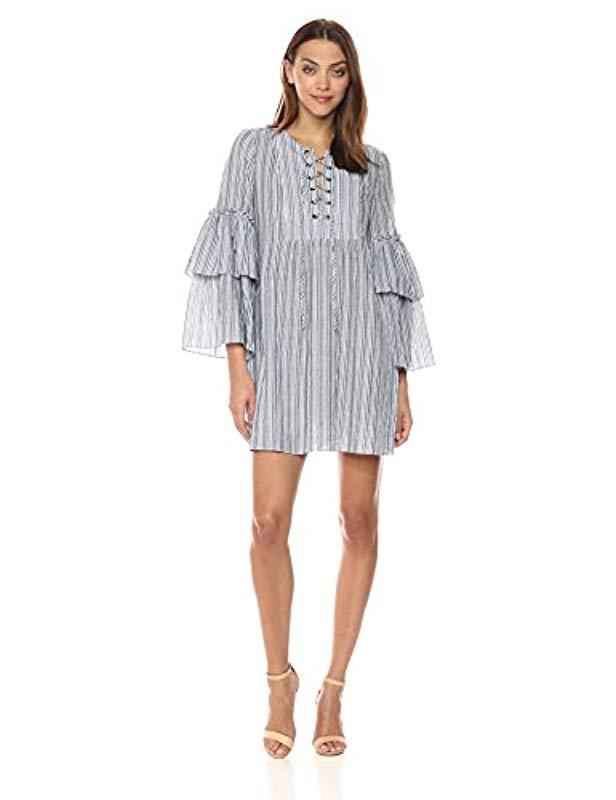 0ca9bc5683de92 Lyst - BCBGMAXAZRIA Charlyze Woven Casual Dress in Gray - Save 72%