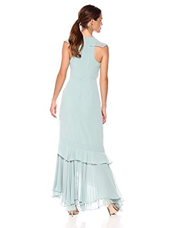 c5993d60653 C meo Collective Be About You Sleeveless V Neck Ruffle Hem Maxi Dress in  Blue - Save 5% - Lyst