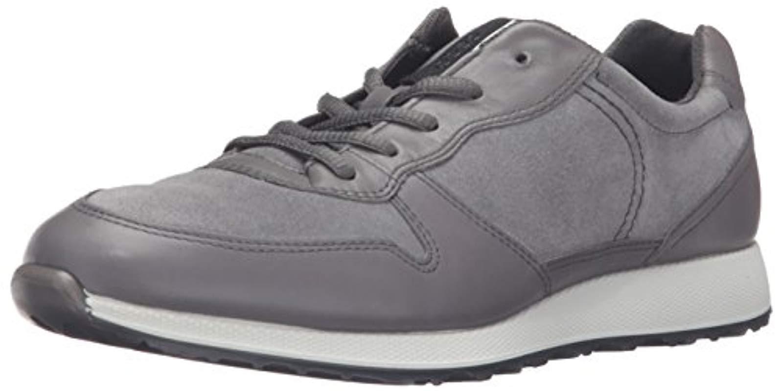 9d50e7cd2963 Lyst - Ecco Sneak Retro Tie Fashion Sneaker in Gray