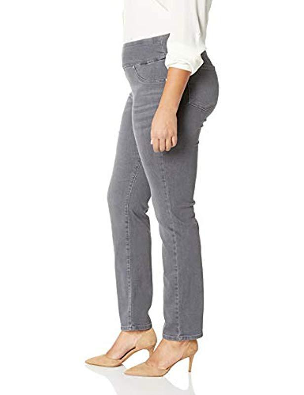 e3d53825 Lyst - Lee Jeans Plus Size Sculpting Slim Fit Slim Leg Pull On Jean in Gray