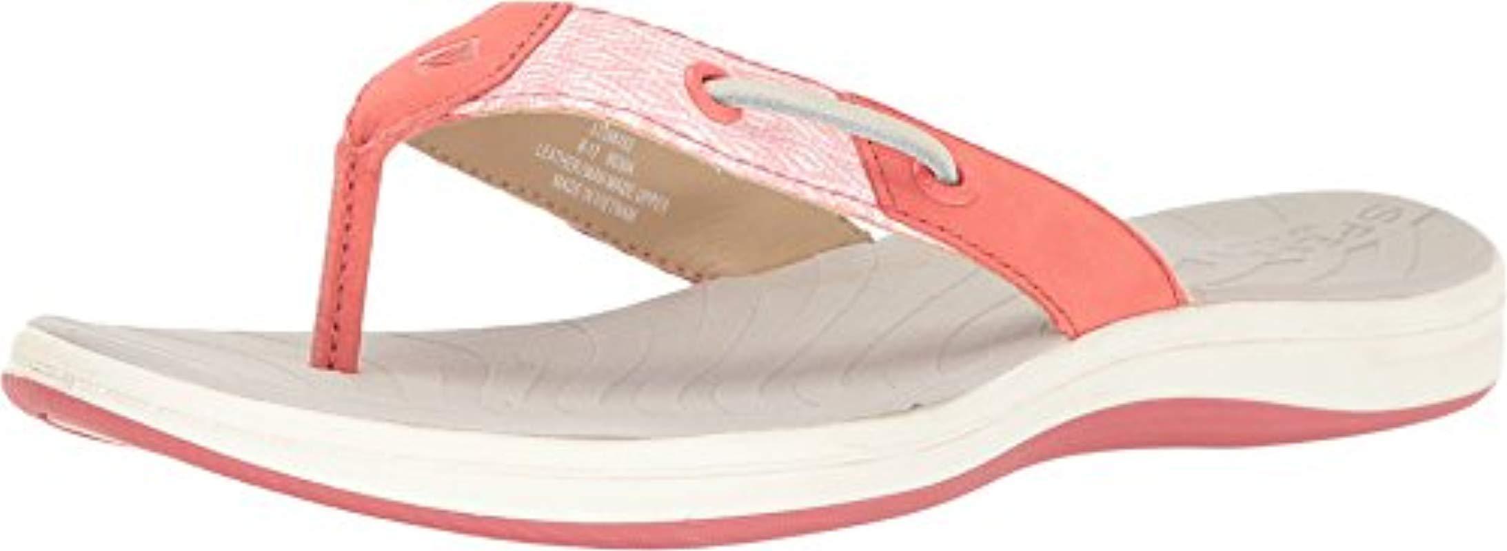 10d2747bd60ea Lyst - Sperry Top-Sider Seabrook Surf Mesh Flip Flop in Pink