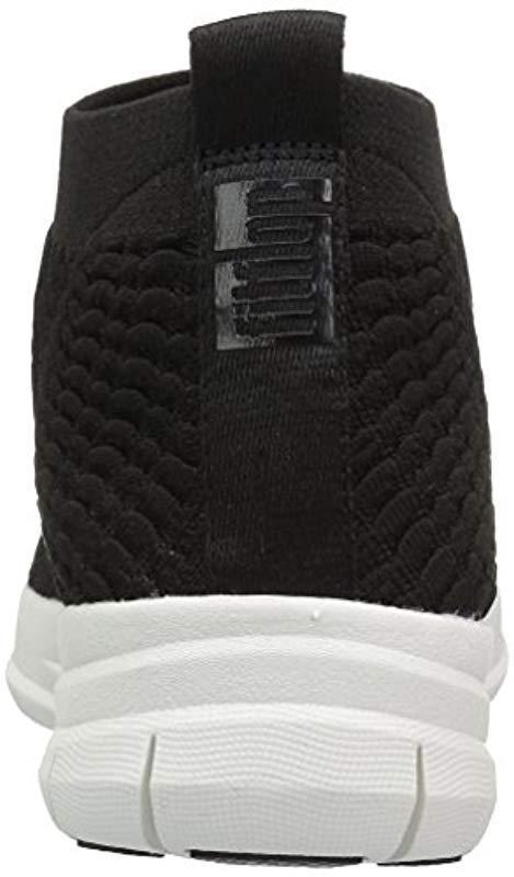 a9ff4f768317 Fitflop - Black Uberknit Slip-on High Top Sneaker In Waffle Knit for Men -.  View fullscreen