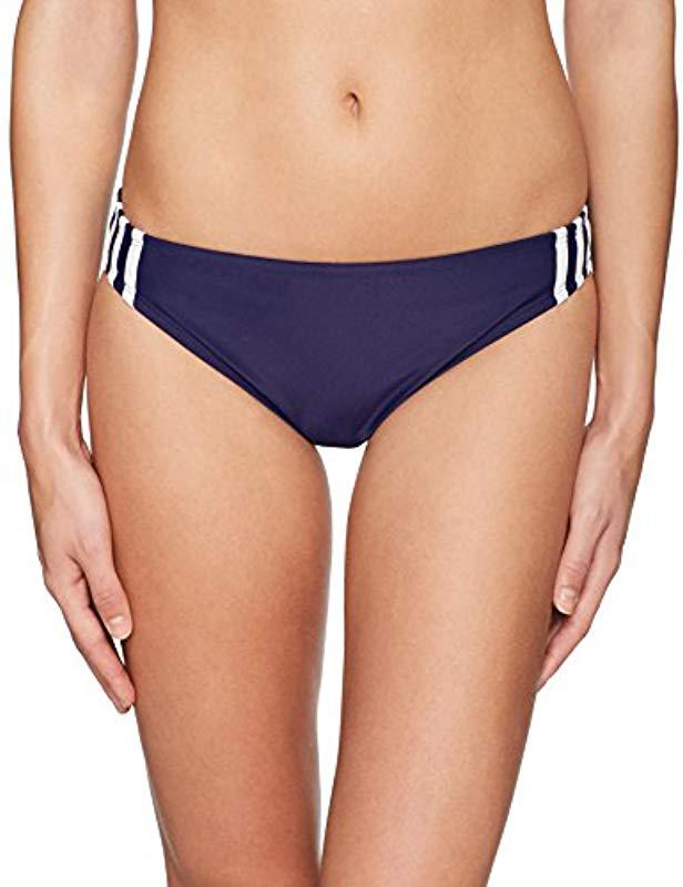 ba21f7775ba3b Lyst - adidas Solid Sport Hipster Bottoms in Blue - Save 42%