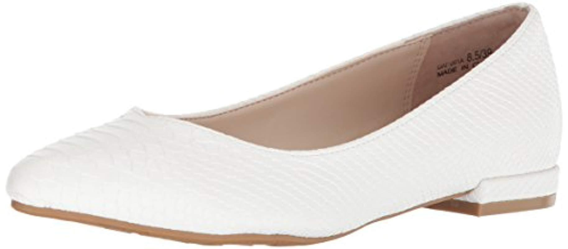 87ddc8a0f Lyst - Chinese Laundry Gavin Pointed Toe Flat in White - Save 68%