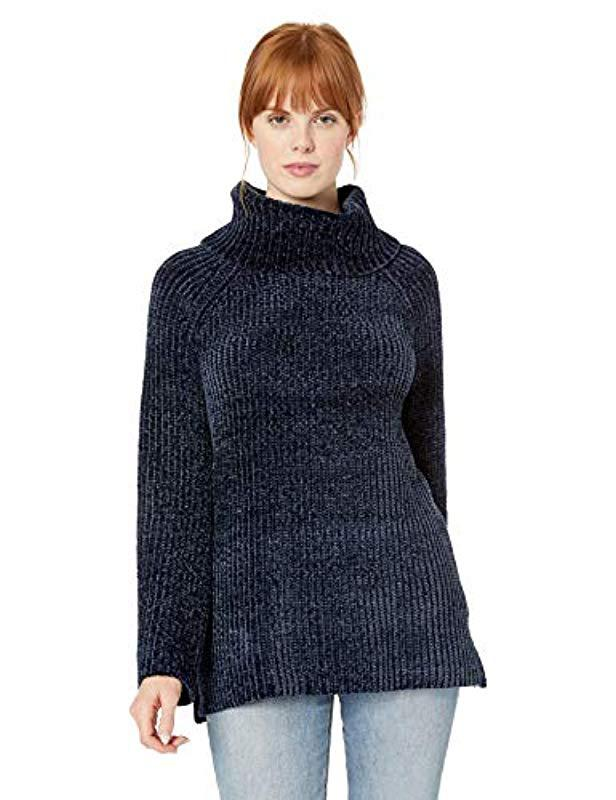 03409a4e683 Lucky Brand Chenille Cowl Neck Sweater in Blue - Lyst