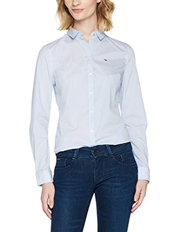 efa73d71 Lyst - Tommy Hilfiger Button Original Stretch Shirt in White