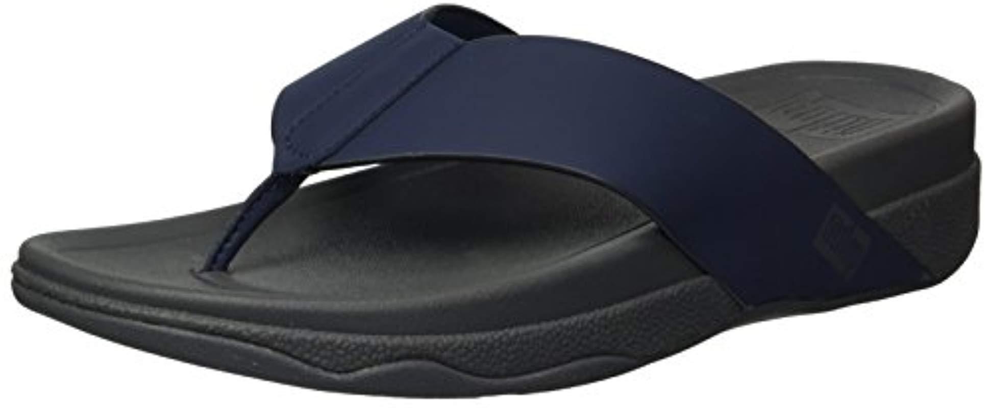 5c5fe228e52 Fitflop - Blue Surfer Toe Post In Neoprene Flip-flop for Men - Lyst. View  fullscreen