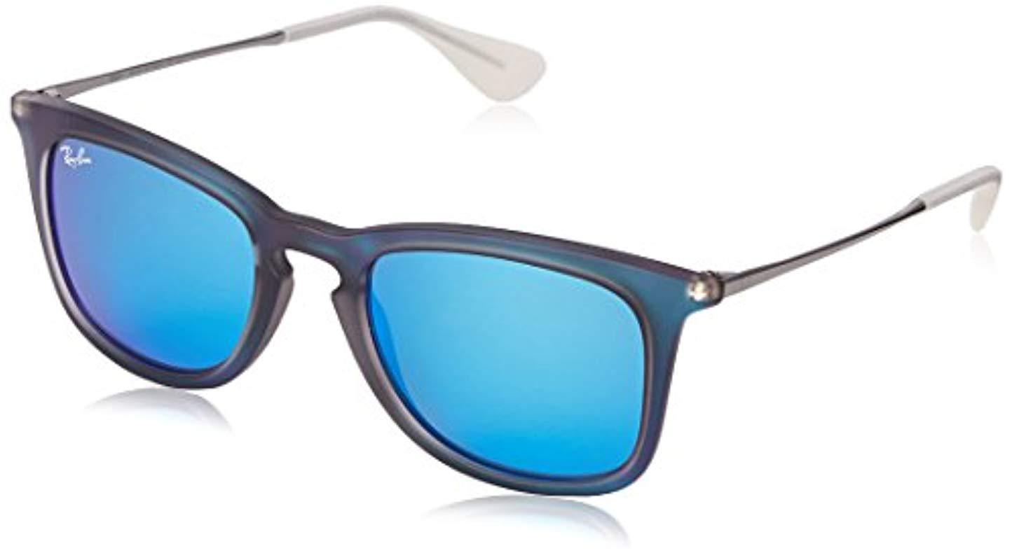 57b3a39d6e Lyst - Ray-Ban 0rb4221 Square Sunglasses in Blue for Men - Save 33%