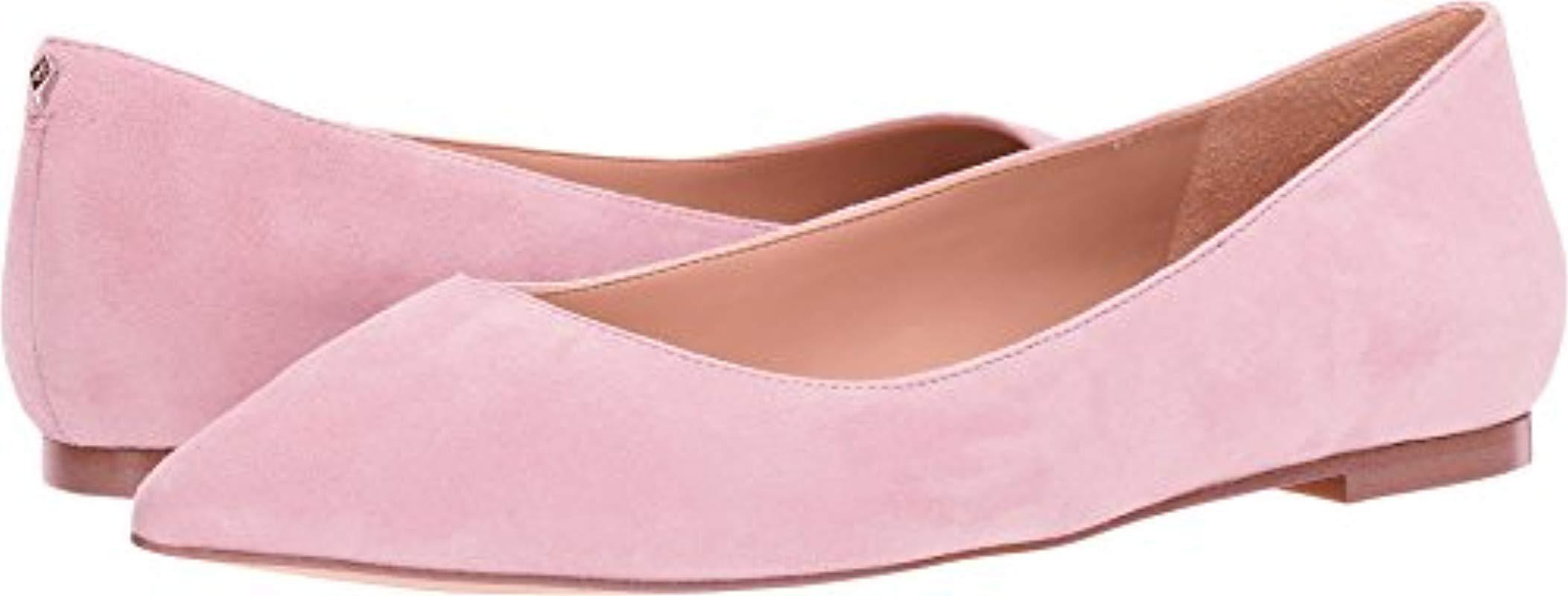 c5782a333de3 Lyst - Sam Edelman Rae Pointed Toe Flat in Pink - Save 4%
