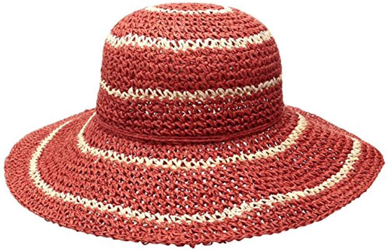 Lyst - Columbia Early Tide Straw Hat in Red 4840490c9f66