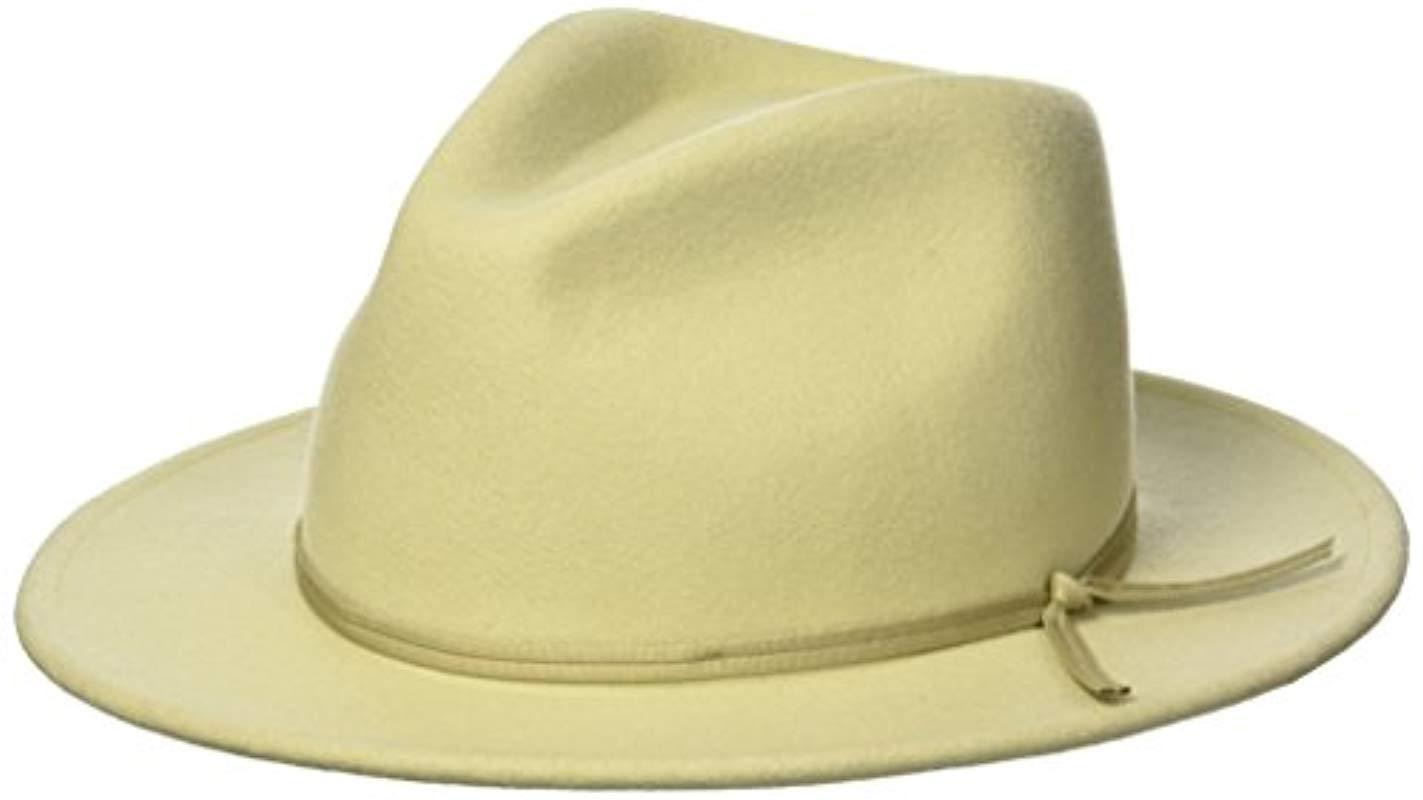 fd1e9976aef Brixton. Men s Coleman Medium Flat Brim Felt Fedora Hat.  58 From Amazon  Prime