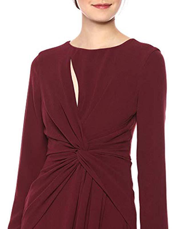 Lyst Dress The Population Naomi Longsleeve Jersey Knit Twist Long