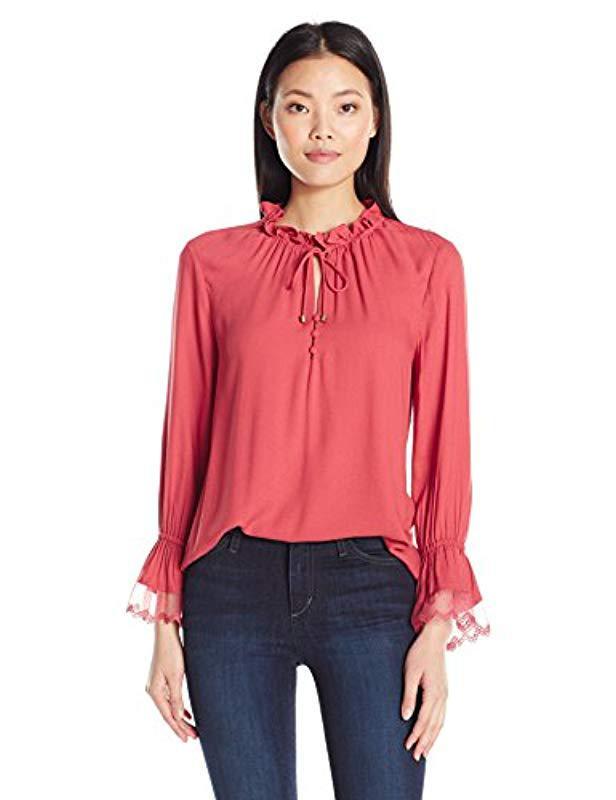 b6d4cbd44ce2ae Lyst - Ella Moss Stella Lace Top in Pink - Save 30.821917808219183%