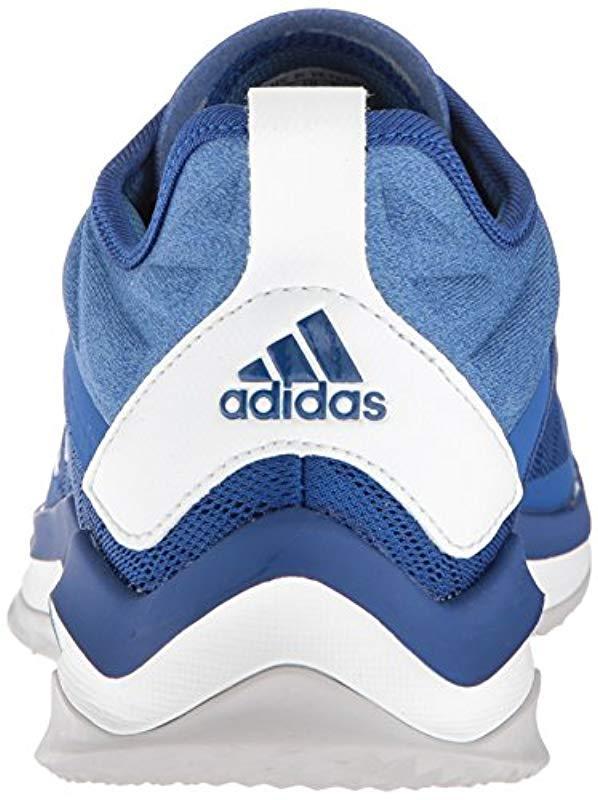 feca322141 Men's Blue Speed Trainer 4 Baseball Shoe, Collegiate Crystal White/trace  Royal, 16 M Us