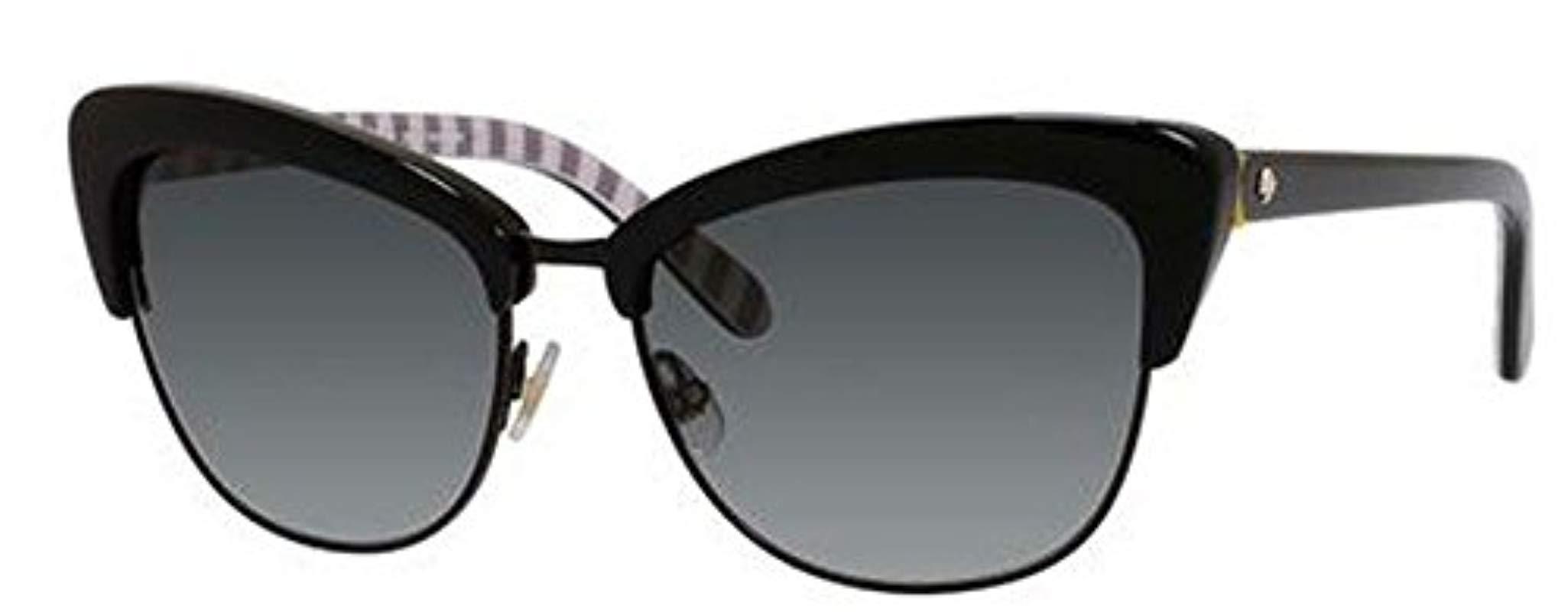 f396ed932b Lyst - Kate Spade Genette Cat-eye Sunglasses in Black - Save ...