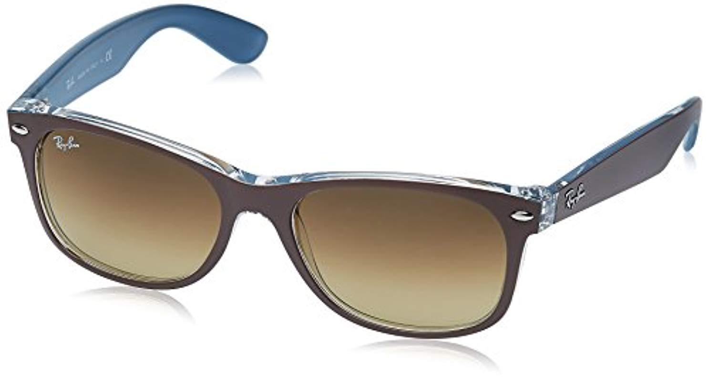 70133c71277 ... sunglasses a3cfe 7100f  hot lyst ray ban new wayfarer square top mt  chocolate on blue 55 mm 7402e 8ca85